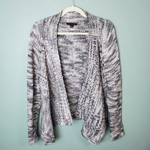 Ann Taylor Marled Gray Open Front Cardigan Sweater